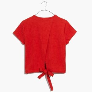 ✨ Madewell Red Verse Tie Back Top ✨
